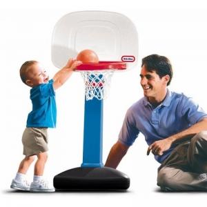 TotSports™ Easy Score™ Basketball Set- Round Backboard